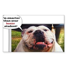 English Bulldog graduate Decal
