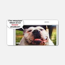 English Bulldog graduate Aluminum License Plate