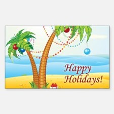 Palm Tree Holiday Decal
