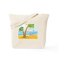 Palm Tree Holiday Tote Bag