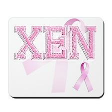 XEN initials, Pink Ribbon, Mousepad