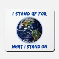 Earth Stand Mousepad