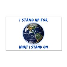 Earth Stand Car Magnet 20 x 12