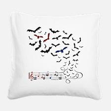Bat Music Design Square Canvas Pillow