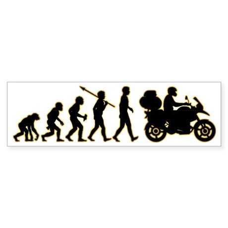 Motorcycle-Traveller3 Sticker (Bumper)