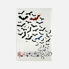 Bat Music Design Rectangle Magnet