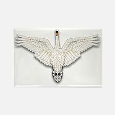 Beadwork Mute Swan Rectangle Magnet