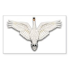 Beadwork Mute Swan Decal