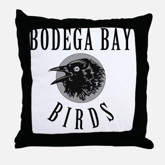 Bodega-Bay-School-Birds Throw Pillow