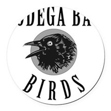Bodega-Bay-School-Birds Round Car Magnet