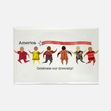 Celebrate Diversity Rectangle Magnet (10 pack)