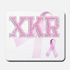 XKR initials, Pink Ribbon, Mousepad