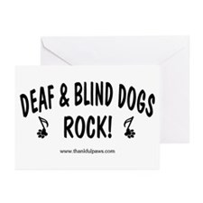 Deaf & Blind Dogs Rock  Greeting Cards (Package of