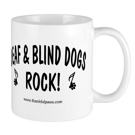 Deaf & Blind Dogs Rock Mug
