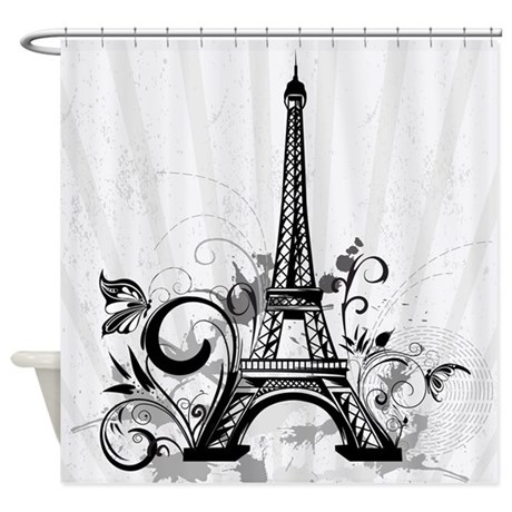 Tye Dye Shower Curtain Eiffel Tower Tumblr