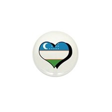 I Love Uzbekistan Mini Button (100 pack)