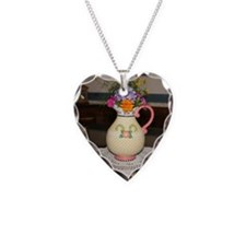 Mary Engelbreit Pitcher with  Necklace Heart Charm