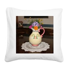 Mary Engelbreit Pitcher with  Square Canvas Pillow
