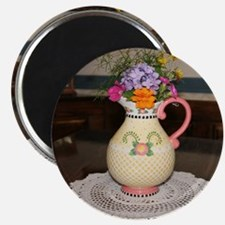 Mary Engelbreit Pitcher with Flowers Magnet