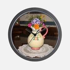 Mary Engelbreit Pitcher with Flowers Wall Clock