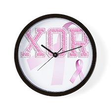 XOR initials, Pink Ribbon, Wall Clock