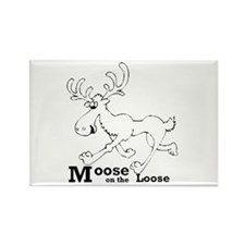 Moose On The Loose Rectangle Magnet
