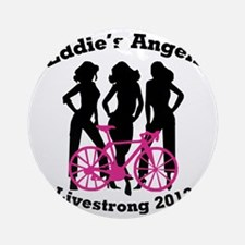 Eddie's Angels Livestrong 2012 Round Ornament