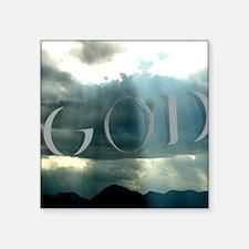 "God in the Heavens Square Sticker 3"" x 3"""