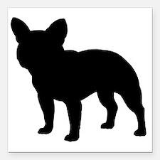 "frenchbulldog Square Car Magnet 3"" x 3"""