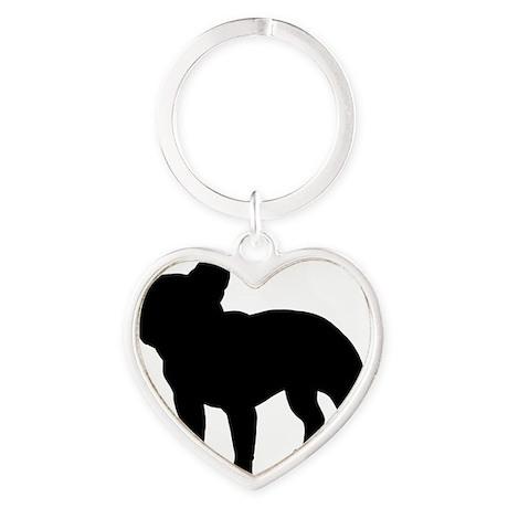 frenchbulldog Heart Keychain
