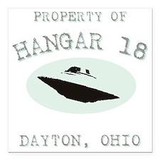 "Hangar 18 Square Car Magnet 3"" x 3"""