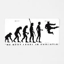 evolution karate Aluminum License Plate