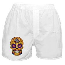 Yellow Sugar Skull Boxer Shorts