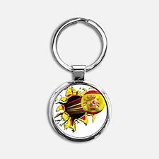 Spain Round Keychain