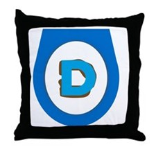 Democrat Doo Doo Economics Throw Pillow