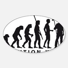 Evolution Maler B 2 Sticker (Oval)