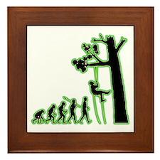 Tree-Climbing4 Framed Tile