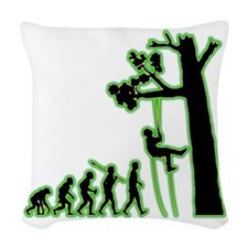 Tree-Climbing4 Woven Throw Pillow