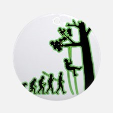 Tree-Climbing4 Round Ornament