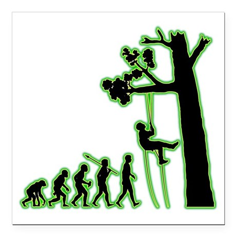 "Tree-Climbing4 Square Car Magnet 3"" x 3"""