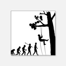"Tree-Climbing Square Sticker 3"" x 3"""