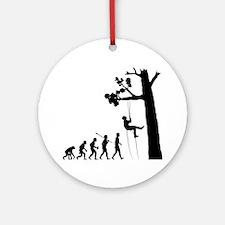 Tree-Climbing Round Ornament
