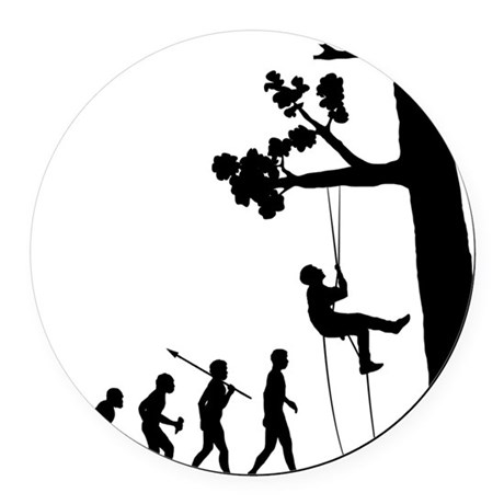 Tree-Climbing Round Car Magnet