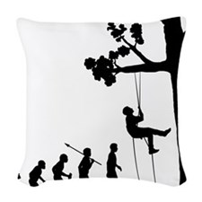 Tree-Climbing Woven Throw Pillow