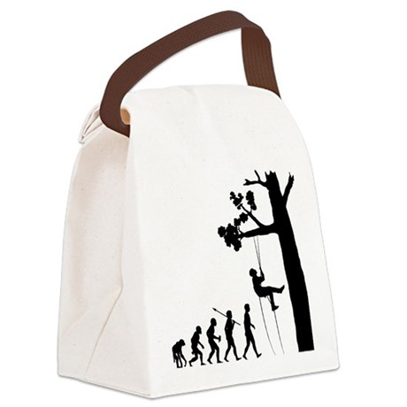Tree-Climbing Canvas Lunch Bag