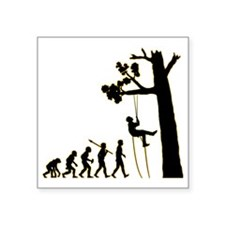 "Tree-Climbing3 Square Sticker 3"" x 3"""