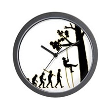 Tree-Climbing3 Wall Clock
