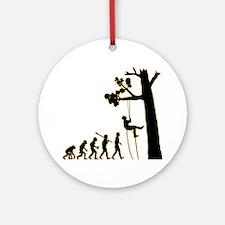 Tree-Climbing3 Round Ornament