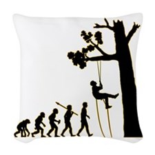 Tree-Climbing3 Woven Throw Pillow