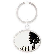 Tree-Hugger3 Oval Keychain